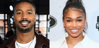 Michael B Jordan and Lory Harvey