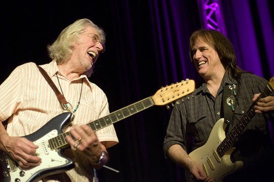 John Mayall, left, with lead guitarist Rocky Athas