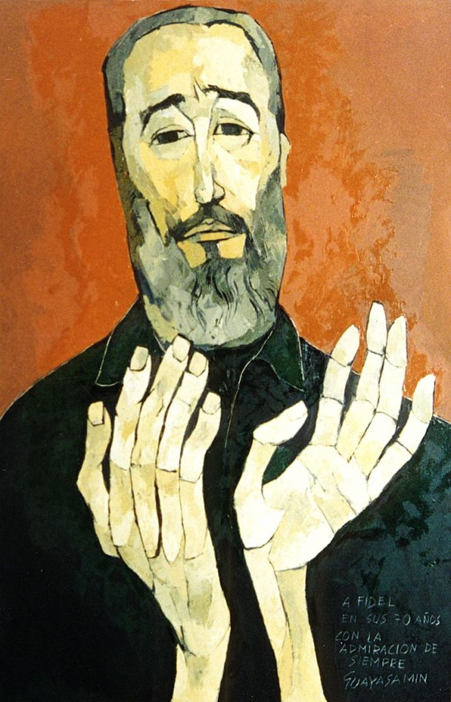 Oswaldo Guayasamín, Fidel Castro, 1996.
