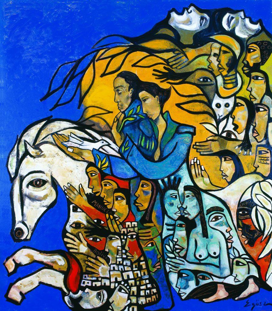 Pavel Égüez, La Patria Naciendo de la Ternura / 'The Nation Being Born of Tenderness', Caracas, Venzuela, 2006.