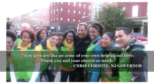 World Mission Society Church of God Church members with NJ Governor Chris Christie