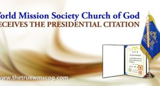 World Mission Society Church of God is awarded Presidential Citation