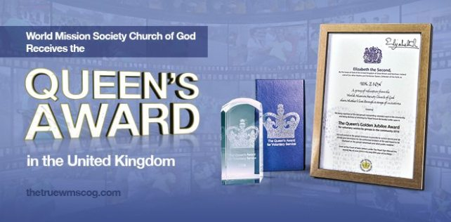 World Mission Society Church of God Queen's Award