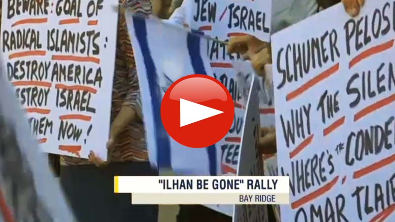 Ilhan Omar Be Gone Rally in Brooklyn