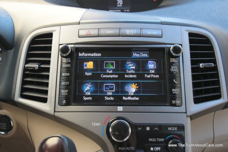 2013 Toyota Venza Limited, Infotainment, Picture Courtesy of Alex L. Dykes