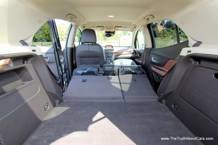 2013 Buick Encore Rear Seats Folded, Front Passenger Seat Folded, Picture Courtesy of Alex L. Dykes