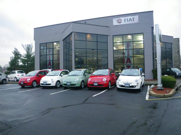 Fiat Dealership In New Jersey Circa January 2013