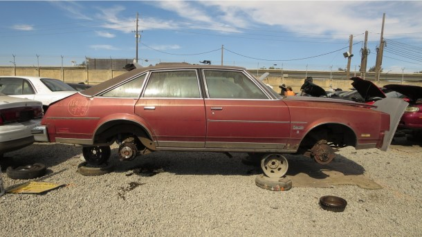 00 - 1979 Oldsmobile Cutlass Salon in California junkyard - photo by Murilee Martin