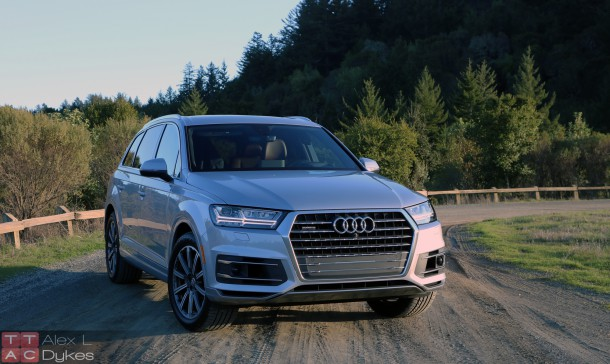2017 Audi Q7 Front 3/4 Exterior, Image: © 2016 Alex Dykes/The Truth About Cars