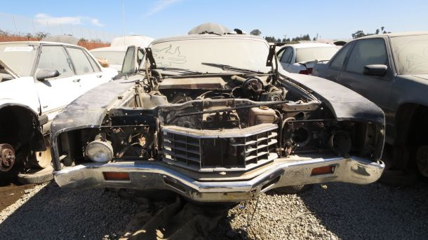 1971 Mercury Montego sedan in California Junkyard, front view - ©2016 Murilee Martin - The Truth About Cars