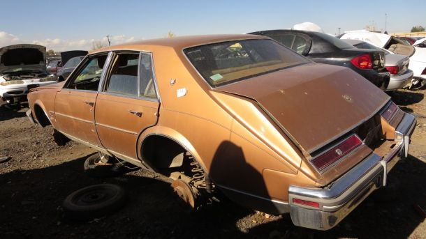 1980 Cadillac Seville in Colorado Junkyard, LH rear view - ©2016 Murilee Martin - The Truth About Cars