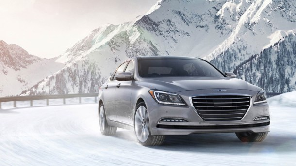 2017 Genesis G80 winter mountains - Image: Genesis Motors