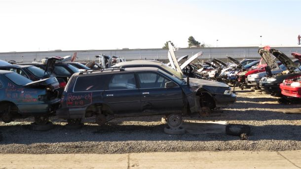 1988 Toyota Camry in California junkyard, RH view - ©2016 Murilee Martin - The Truth About Cars