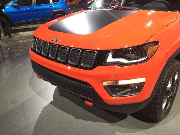 Jeep Compass Detroit Auto Show, Image: © 2017 Sajeev Mehta/The Truth About Cars 2017