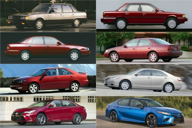 Eight Toyota Camry Generations - Images: Toyota