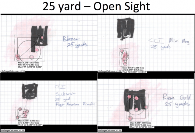 RAR - 25 yard open sight composite