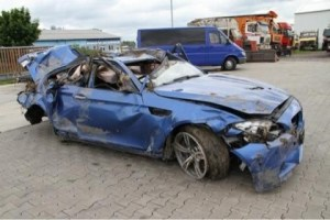 "Here is one of the hundreds of photos the jury saw of previously wrecked cars sold as ""new"" by BMW after being ""fixed"". It's clear why the court reversed the judgment."