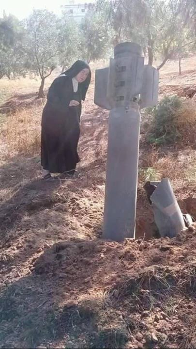 A nunnery in West Aleppo that has been targeted by terrorists