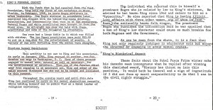 Secret government files on King. Click to enlarge