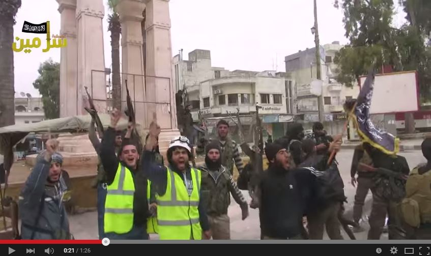 The Syrian White Helmets with their terrorist friends. Click to enlarge