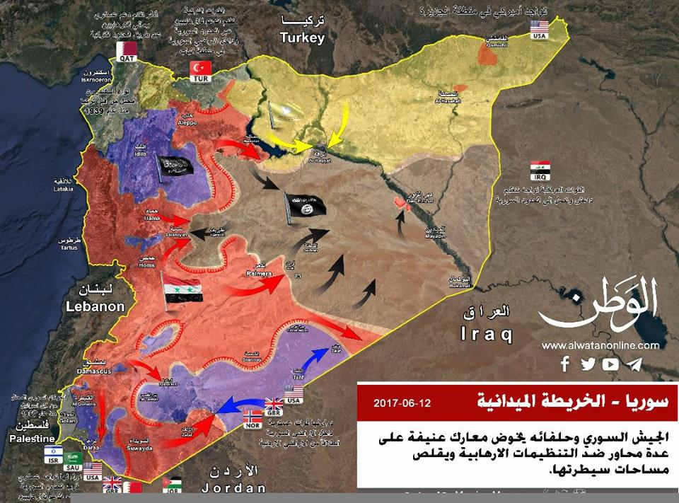Syria map. Click to enlarge