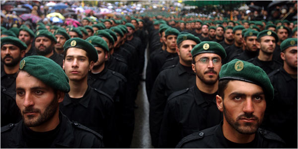 1- Disciplined and well-armed, Hezbollah Green Berets ain't no joke!. Click to enlarge