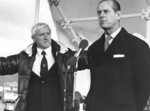 Savile and the Duke of Edinburgh at Stoke Mandeville Hospital, where Savile carried out many of Savile's crimes. Click to enlarge