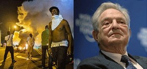 Soros reportedly helped bankroll Ferguson protests. Click to enlarge