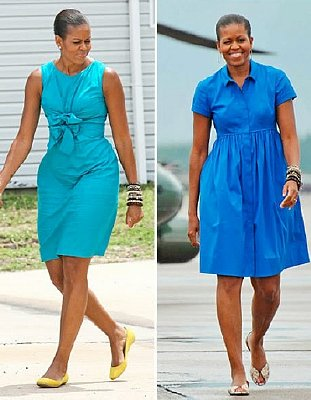 Michael (Michelle) Obama's broad shoulders and heavy muscles are also a masculine characteristic. Click to enlarge