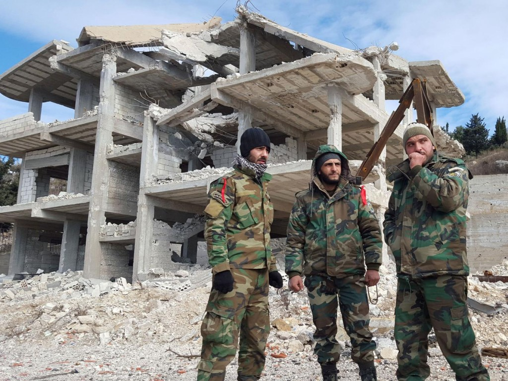 Syrian troops in al-Rabiaa. Click to enlarge