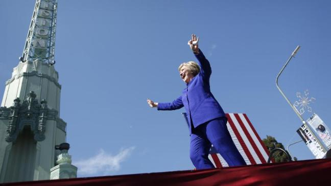 For a while Clinton's election victory seemed a certainty. Click to enlarge