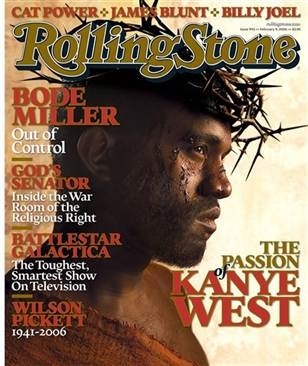 Kanye has repeatedly claimed his godhood--his god name is Yeezus-- a thinly-veiled corruption of the name Jesus