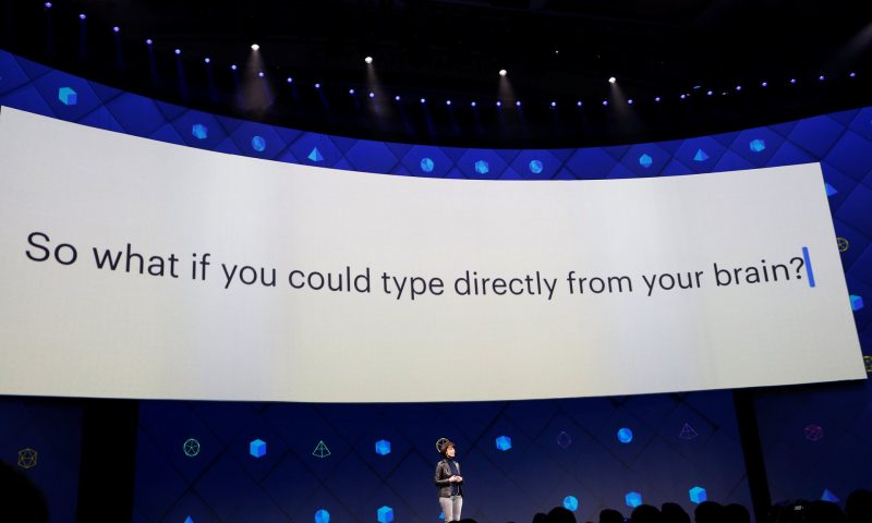 Regina Dugan, head of Facebook's hardware innovation division Building 8, speaks at F8 – the company's annual developer conference. Click to enlarge