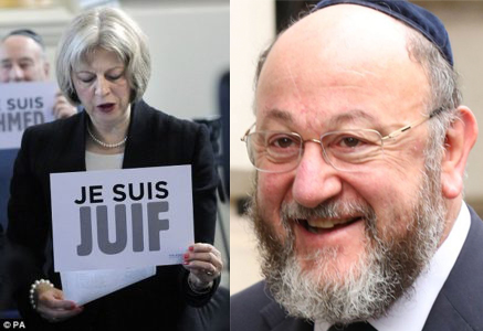 Theresa 'Je Suis Juif' May and Cheif Rabbi Ephraim Mirvis