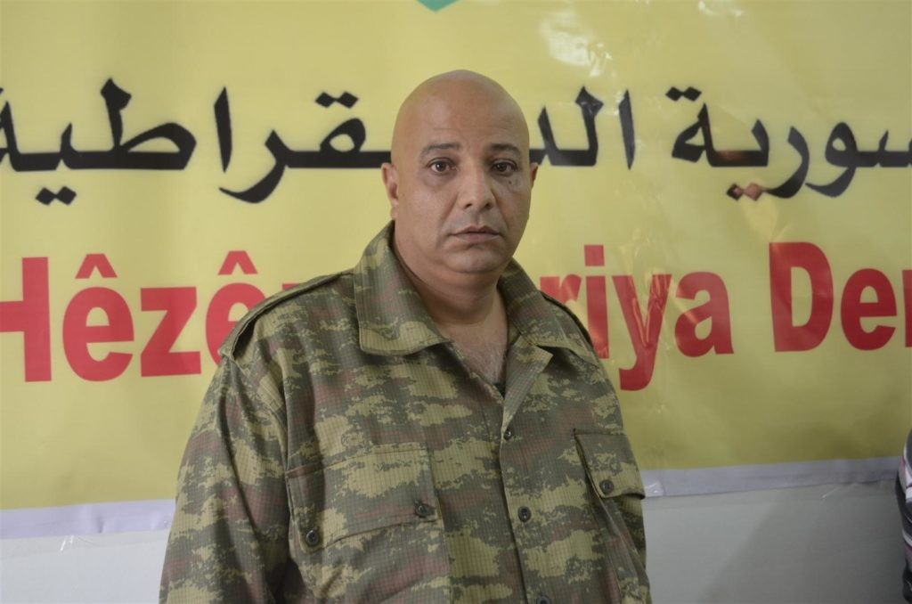 Former SDF Spokesman Talat Silo speaks out after defecting to Turkey. Click to enlarge