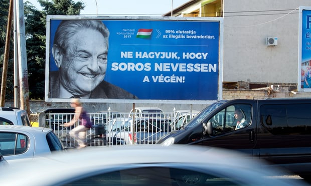 Hungarian anti-George Soros campaign poster. Click to enlarge