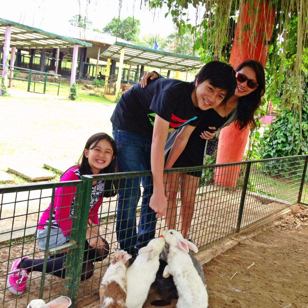 With my kids, Ralph and Ella