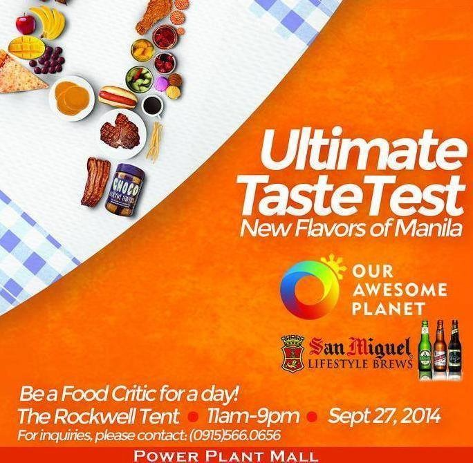 Ultimate Taste Test 2014 - The Rockwell Tent - UTT - Powerplant Mall