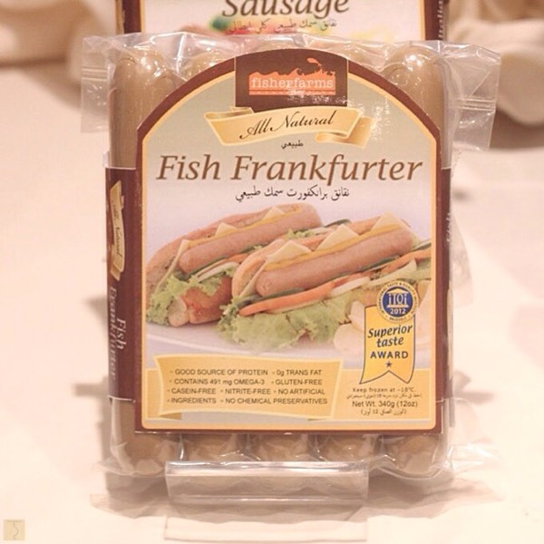 Fisher Farms Fish Frankfurter Garlic Pasta