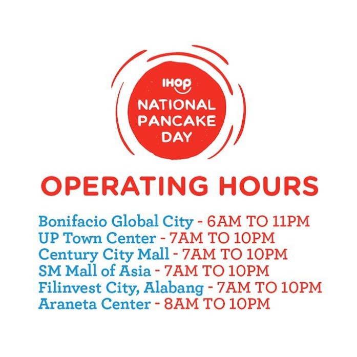 IHOP PHILIPPINES 2ND NATIONAL PANCAKE DAY