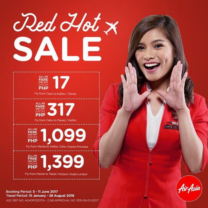 AirAsia Red Hot Seat Sale - 2017