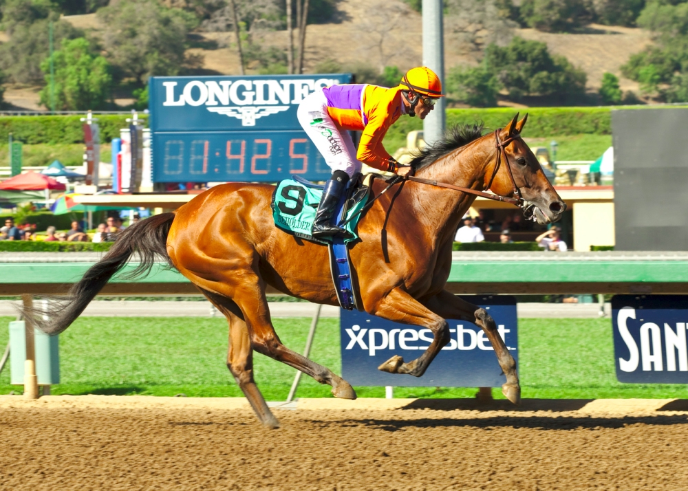 Beholder could not have been more impressive while winning the 2015 Zenyatta Stakes (gr. I) at Santa Anita - © BENOIT PHOTO