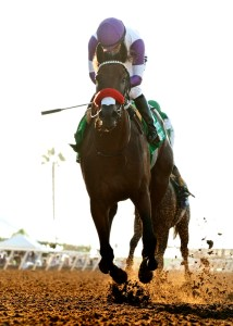 Nyquist winning the $300,000 Del Mar Futurity (gr. I) at Del Mar © BENOIT PHOTO