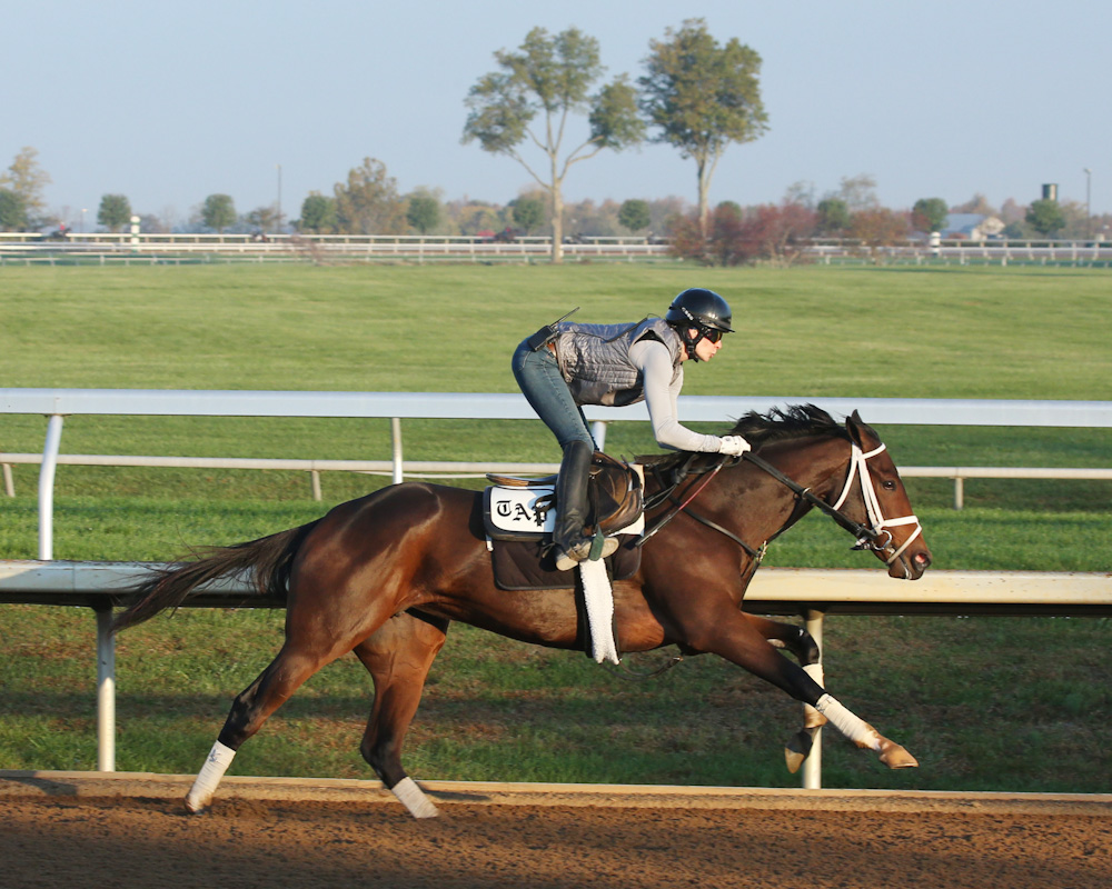 Rachel's Valentina - Morning Workout - Keeneland Race Course - 1