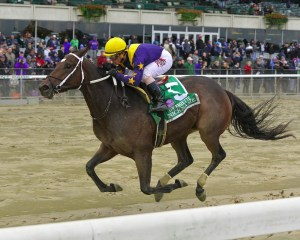 Nickname winning the Frizette Stakes (gr. I) at Belmont Park - Photo by NYRA/Coglianese Photos/Joe Labozzetta