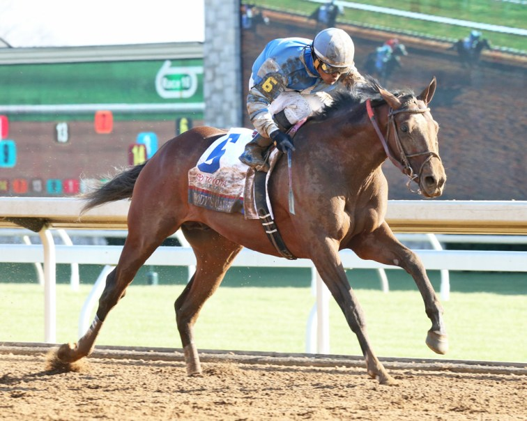 Brody's Cause winning the Blue Grass Stakes (gr. I) at Keeneland - Keeneland Photo