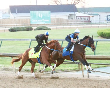 Gun Runner breezing at Churchill Downs - Coady Photography/Churchill Downs