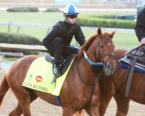 Gun Runner during training at Churchill Downs on April 18th - Coady Photography/Churchill Downs