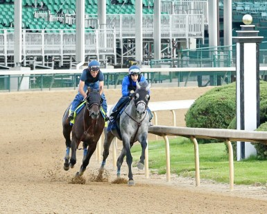 Mor Spirit working at Churchill Downs on April 26th - Coady Photography
