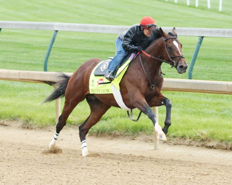 Brody's Cause breezing at Churchill Downs - Coady Photography